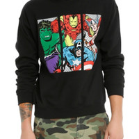 Marvel The Avengers Panels Crew Pullover