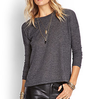 FOREVER 21 Slub Knit Ribbed Top