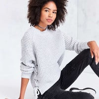 Kimchi Blue Anna Side Lace-Up Pullover Sweater - Urban Outfitters