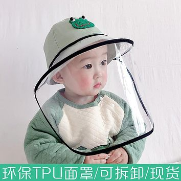 Baby Hat Spring And Autumn Thin Baby Anti-Droplet Protective Hood Boys And Girls Fisherman Hat Cute Super Cute Sun Hat