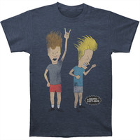 Beavis & Butthead Men's  Rock Forever - Heather T-shirt Navy