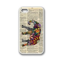 iPhone 4 Case White Silicone Case Protective iPhone 4/4s Case Elephant On Dictionary