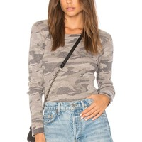 MONROW Camo Thermal Tee in Camel | REVOLVE
