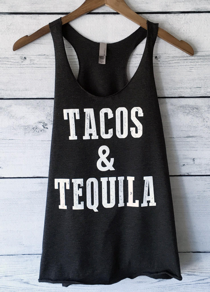 Image of Tacos and Tequila Tank Top Racerback