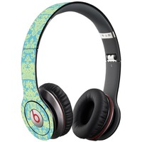Vintage Blue Green Damask Decal Skin for Beats Solo HD Headphones by Dr. Dre
