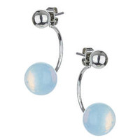 Mood Front And Back Earrings - White