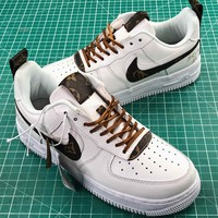 Lv X Nike Air Force 1 Low White Sport Shoes