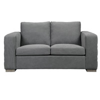 Inari Stonewashed Gray Loveseat by Uttermost