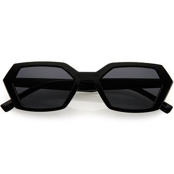Retro Fashion Neutral Colored Geometric Sunglasses D120