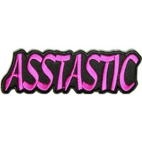 """Embroidered Iron On Patch - Asstastic 4"""" x 1.25"""" Patch"""