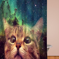 Epic Space Cat shower curtains