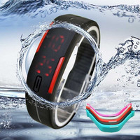 New Stylish Candy Color Ultra Thin Men Women Waterproof Sports Silicone Digital LED Sport Wristband Bracelet Bracelet Bangle Wrist Watch Running Watch Gifts For Kids = 1958526852