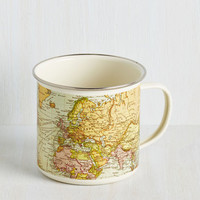 Travel Map Out Your Morning Mug by ModCloth