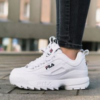 FILA Running Sport Casual Shoes Sneakers White