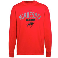 Reebok Minnesota Wild Youth Acquisition Long Sleeve T-Shirt - Red