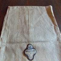 """Vintage Antique """"All Pure Linen"""" Tablecloth Made in Czechoslovakia Pattern 28 New"""