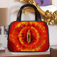 LOTR Middle Earth The Eye Of Sauron Women Classic Carrier Purse Leather Handbag