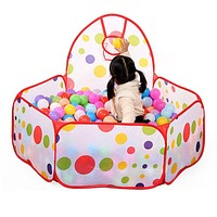 Children Kid Ocean Ball Pit Pool Game Play Tent In and Outdoor Kids House Play Hut Pool Play Tent