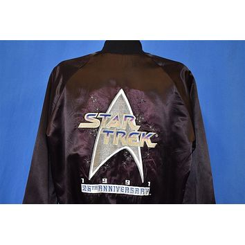 90s Star Trek 25th Anniversary 1991 Satin Jacket Large