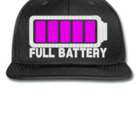 FULL BATTERY Embroidery - Snapback Hat