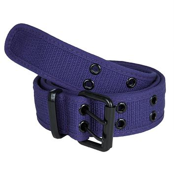 Purple Web Double Grommet Belt