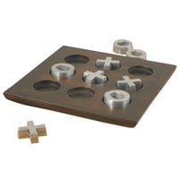 Van Ness Industrial Tic-Tac-Toe Set PEWTER