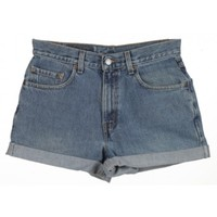 Rokit Recycled Blue Denim Turn Up Shorts W30 | Rokit Recycled | Rokit Vintage Clothing