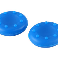 Universal Anti-slip Silicone Joystick Caps for Xbox 360, Xbox One, PS4, PS3 Controller (Blue)