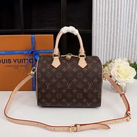 LV Louis Vuitton Women Fashion Leather Travel Crossbody Bag Tote Satchel
