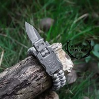 EDC Tactical Paracord Umbrella Rope Bracelet Packet Knife Stainless Steel Buckle Rope Paracord Bracelet Outdoor Survival tools