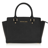 MICHAEL Michael Kors - Selma medium textured-leather tote