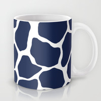 Giraffe Animal : Navy Mug by Eileen Paulino