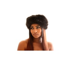 Faux Fur Headband- Black