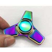 Colorful Aluminum Alloy Stress Spinner Hand Spinner Metal and ADHD handspinner EDC Tri-Spinner Metal Fidget Spinner Toy