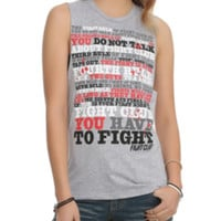 Fight Club Rules Muscle Girls Top