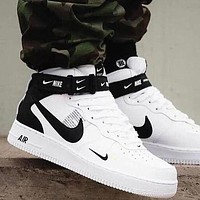 NIKE AIR FORCE 1 AF1 MID UTILITY Trending Women Men Casual Sneakers Sport Shoes