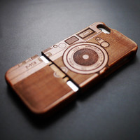 Camera M9 Mahogany Wood  iPhone 5 / 5s Case - Wooden iPhone 5 / 5s Case - iPhone 5 / 5s Case Wood - Wood iPhone 5 / 5s Case - iPhone5 Case