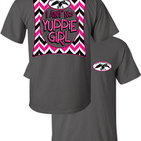 Duck Commander Aint No Yuppie Girl Chevron Country Girlie Bright T Shirt