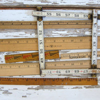 vintage rulers / instant collection of wooden rulers
