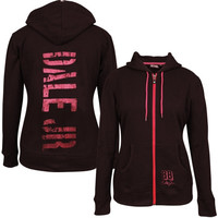 Dale Earnhardt Jr. Chase Authentics Women's French Terry Full Zip Hoodie – Black