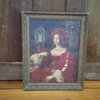 Vintage Johanna of Aragon The Mazart Process Framed Art