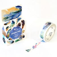 Watercolor Flying Feather Decorative Washi Tape DIY Scrapbooking Masking Tape School Office Supply Escolar Papelaria