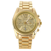 Womens Sports Gold Alloy Watch Girls Fashion Casual Watches Best Gift