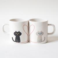 Miranda Oh My Cat Pair Mug Set