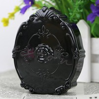 New Retro Floral Solid Round Travel Glasses Contact Lenses Box Unisex Solid Contact lens Case for Eyes Care Kit