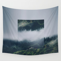I get nervous.  Wall Tapestry by Witchoria