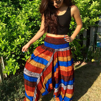 boho harem pants,gypsy hipster pants,indie womens clothes,Oversized Hippie pants,Baggy pants,Loose alladin Pants,gift women,trending items