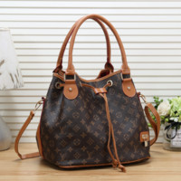 LV Louis Vuitton Women Fashion Leather Bucket Bag Crossbody Shoulder Bag