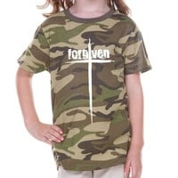 Forgiven Cross Camouflage Toddler Christian T Shirt