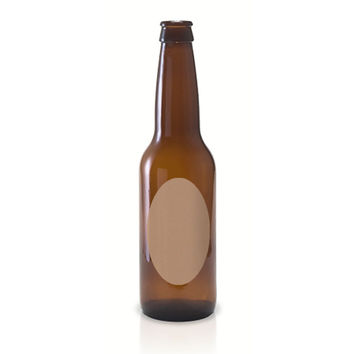 50 Oval Beer Bottle Labels, 4 x 2 inches